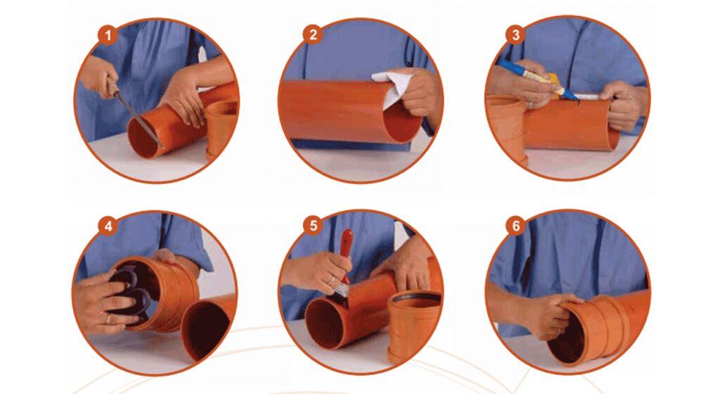Ilustrasi Penyambungan Pipa PVC Limbah SDR-41