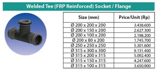 Ilustrasi Welded Tee (FRP Reinforced) Socket Flange