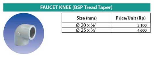 Faucet Knee SC